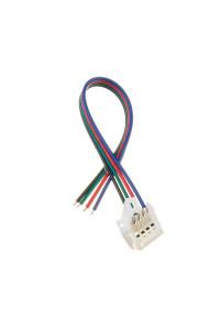 Коннектор для светодиодных лент RGB 10мм (провод+зажим)