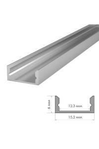 Профиль для светодиодной ленты накладной ПФ-18 2 м